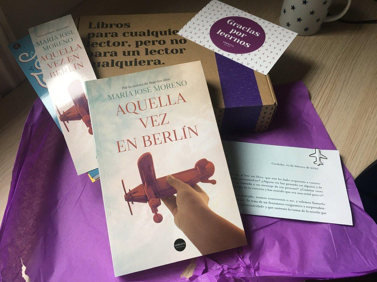 Allá voy  Aquella vez en Berlín @mjmoreno010  @edversatil  #AquellavezenBerlín  #amorporloslibros pic.twitter.com/YJv8e9NBAY