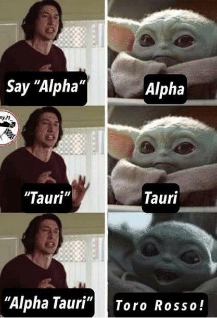 it is! #ToroRosso #AlphaTauriF1 😂😂😂