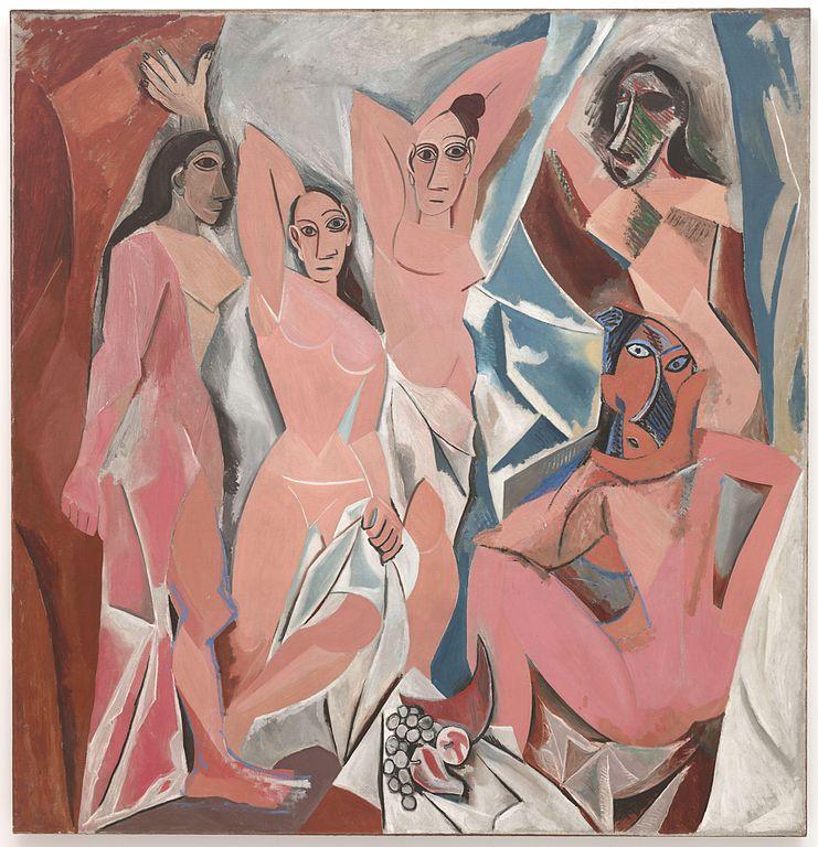 Hoy vamos a hacer un hilo de #arte sobre un cuadro que según tu cuñado podría haberlo pintado un niño de cinco años: Las señoritas de Aviñón, de Pablo Picasso.