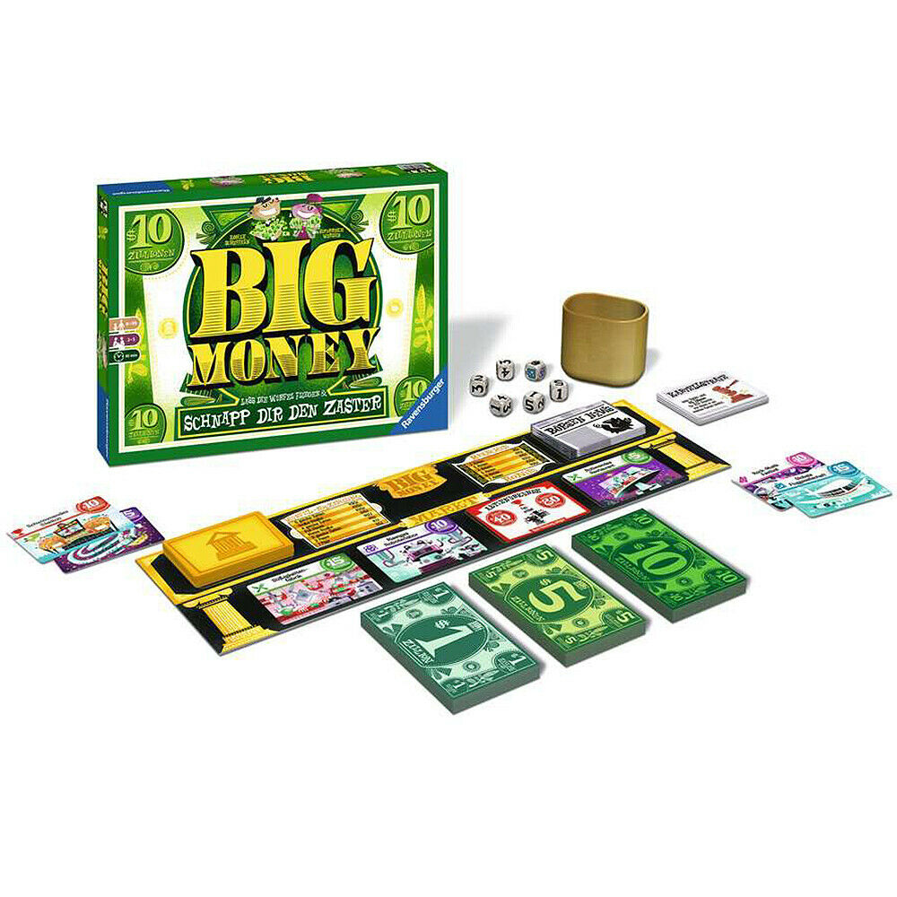 https://www.yourdealz.de/?p=180363 - RAVENSBURGER Familienspiel Big Money™ Würfelspiel Gesellschaftsspiel für 19,99€ inkl. Versand! pic.twitter.com/V5872Javj0