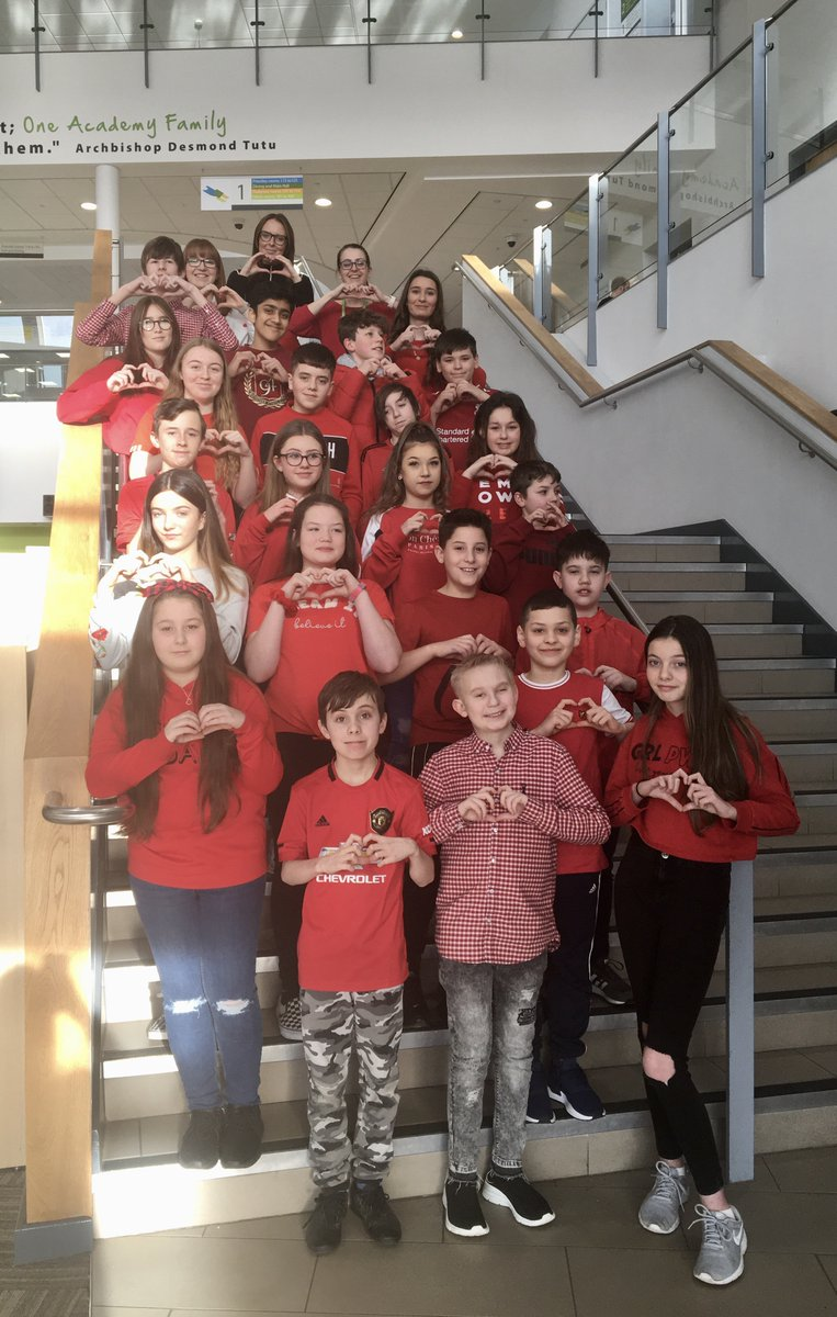 Today students and staff at Trinity Academy Halifax have raised a total of £1354.82 for @CalderSmartMove  by wearing red to show our support for our local community. #worldclassstudents ❤️