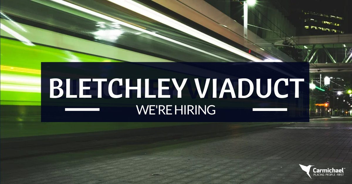 We're now hiring on Bletchley Viaduct! Find your next role https://carmichaeluk.com/   #construction #engineering #recruitment #constructionjobs #engineeringjobs #constructionrecruitment #engineeringrecruitment #ukjobs #ukengineering #ukconstructionpic.twitter.com/bocObL8wti