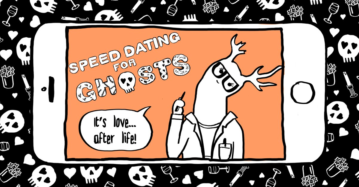 Speed Dating for Ghosts is now available for iPhones and iPads! https://apps.apple.com/ca/app/speed-dating-for-ghosts/id1494067808…