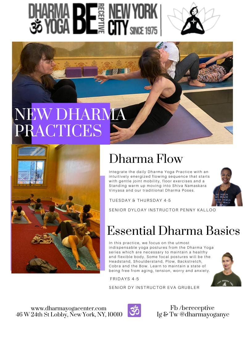 Dharma Yoga Center On Twitter Join Us For Two New Expressions Of The Dharma Yoga Practice Coming To The Dharma Yoga Center Schedule Dharmayoga