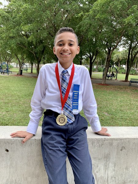 Jack Gordon Elem On Twitter Jdg Jaguar Warren Zaladin Won A Gold Medal At The Science Fair In The Physical Science Category Mdcpssouth