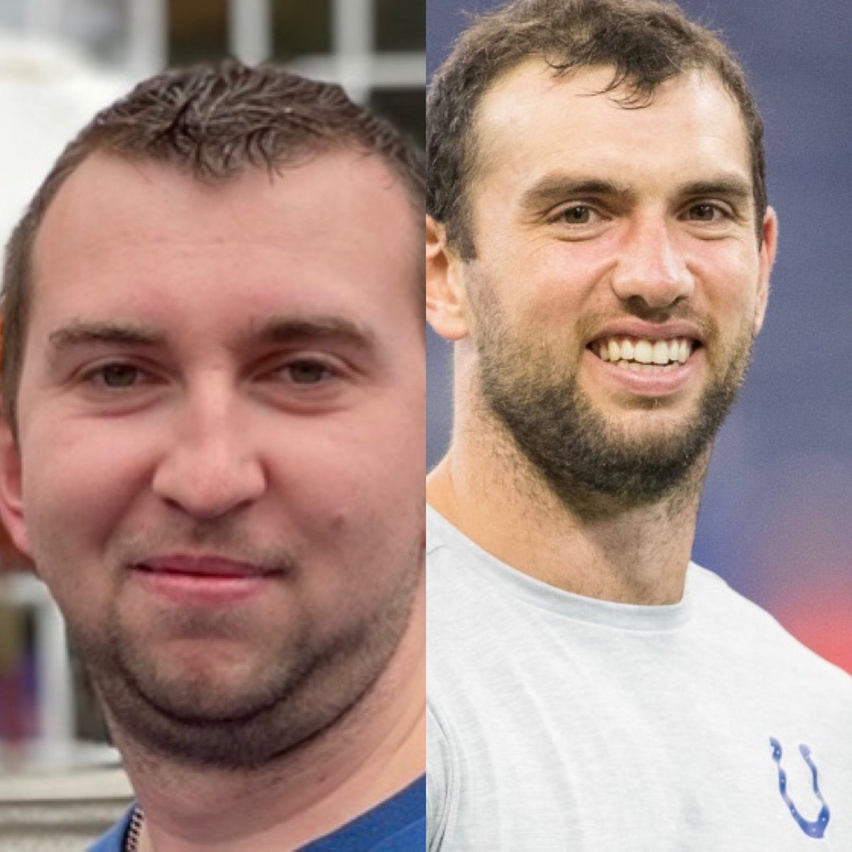 So for my #DoppelgängerChallenge. I've heard some people say I look like @Colts former QB #AndrewLuck. Let me know what y'all think.