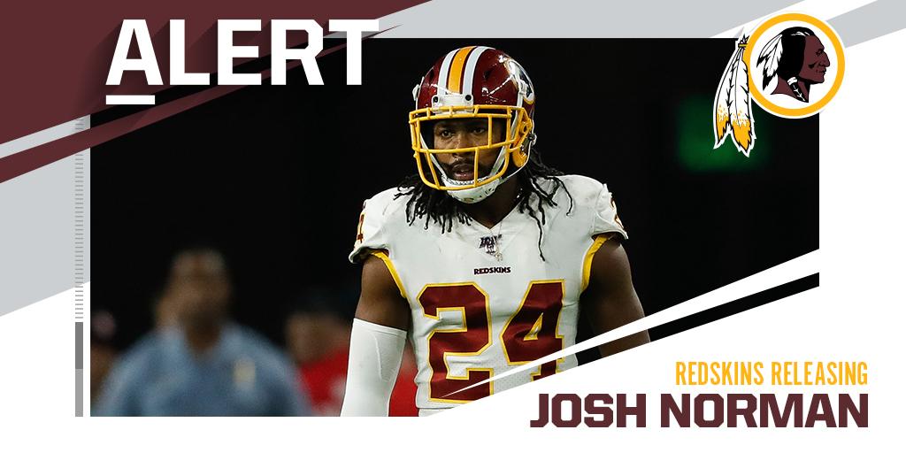 Redskins to release CB Josh Norman. (via @MikeGarafolo)