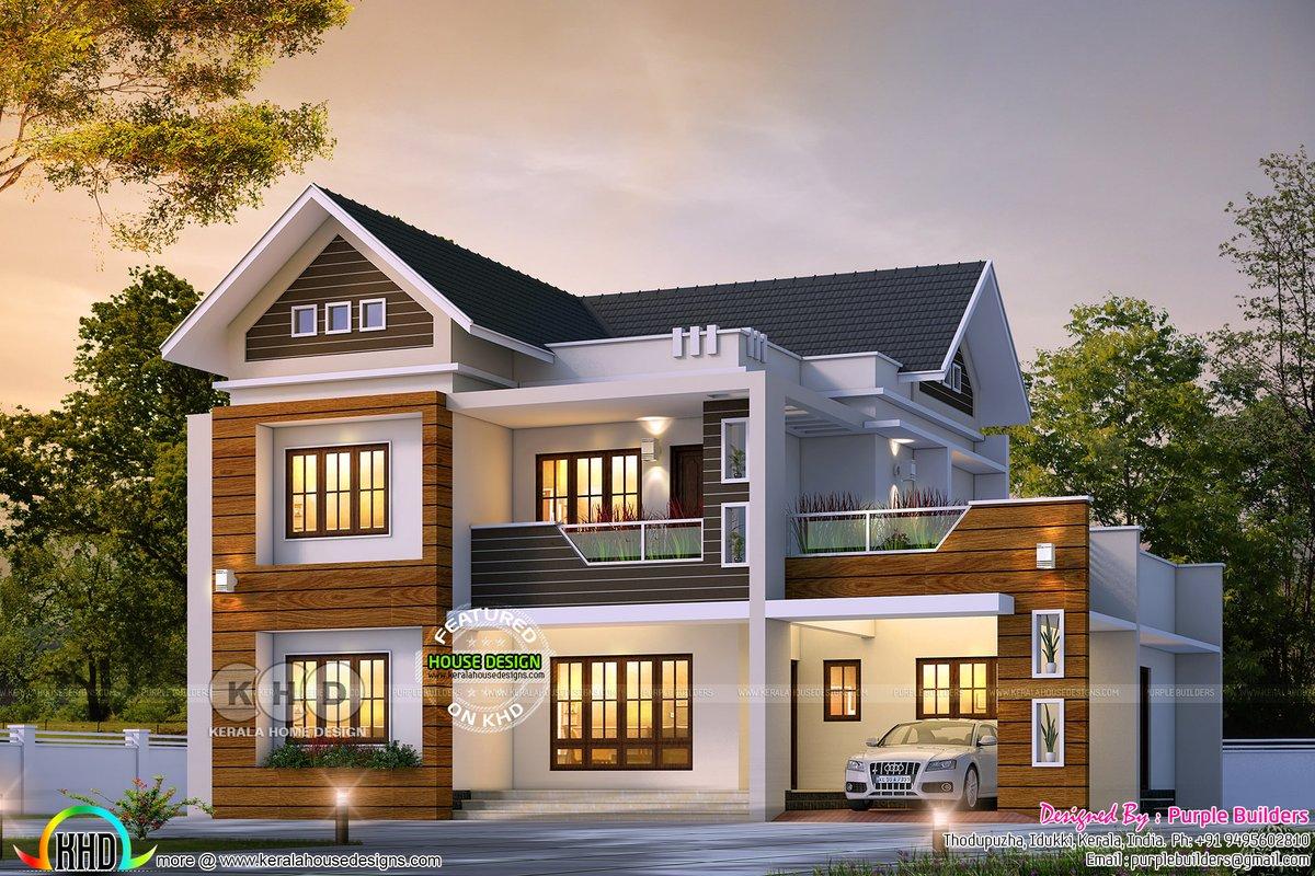 Kerala Home On Twitter Outstanding Mixed Roof House Https T Co V7xrkkyvis