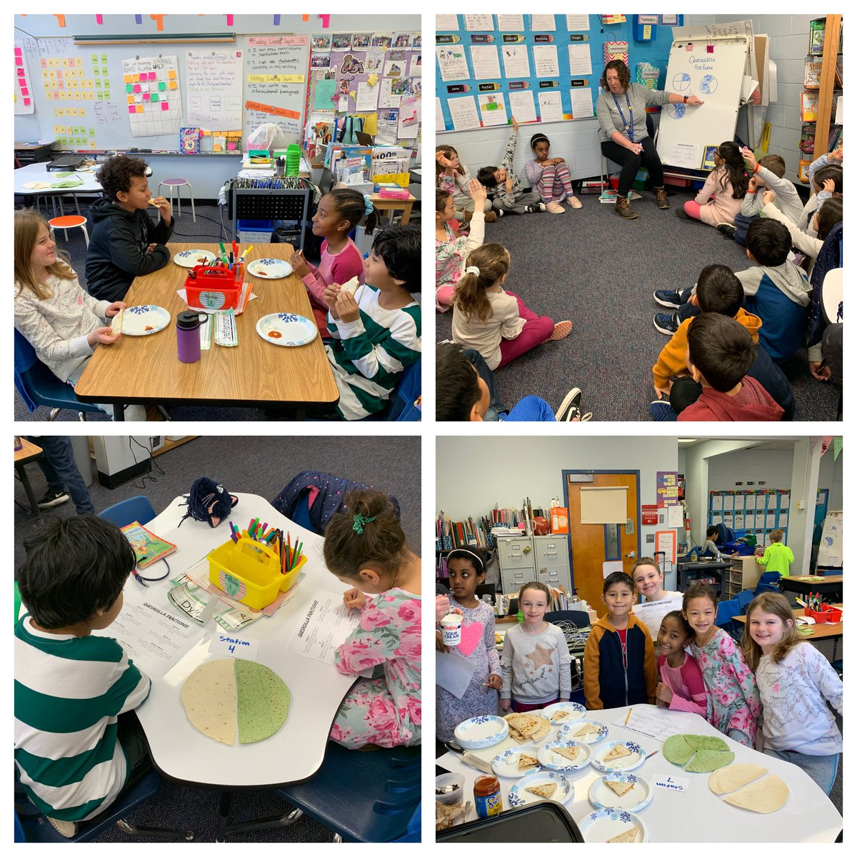 """Today we got to, """"eat our math"""" with <a target='_blank' href='http://twitter.com/CampbellOutside'>@CampbellOutside</a>! We learned as the denominator gets bigger the pieces of the tortillas got smaller! <a target='_blank' href='http://twitter.com/CampbellAPS'>@CampbellAPS</a> <a target='_blank' href='https://t.co/UBtnL08Pk7'>https://t.co/UBtnL08Pk7</a>"""