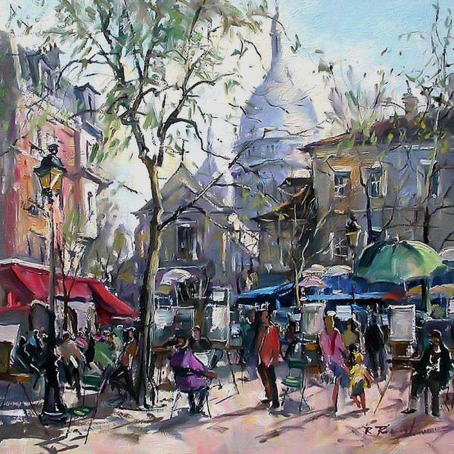 Robert Ricart Place du Tertre. Montmartre Paris