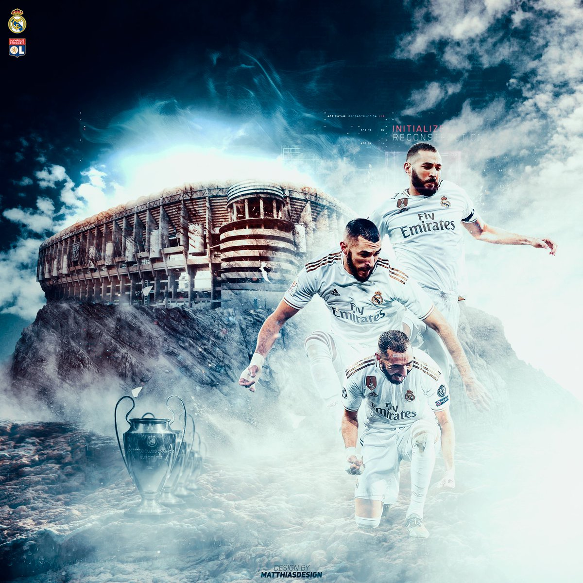 [Personal work] - @Benzema    #Share if you like it :)   #RMA #Merengues #Madrid #Benzema #OL #TeamOL