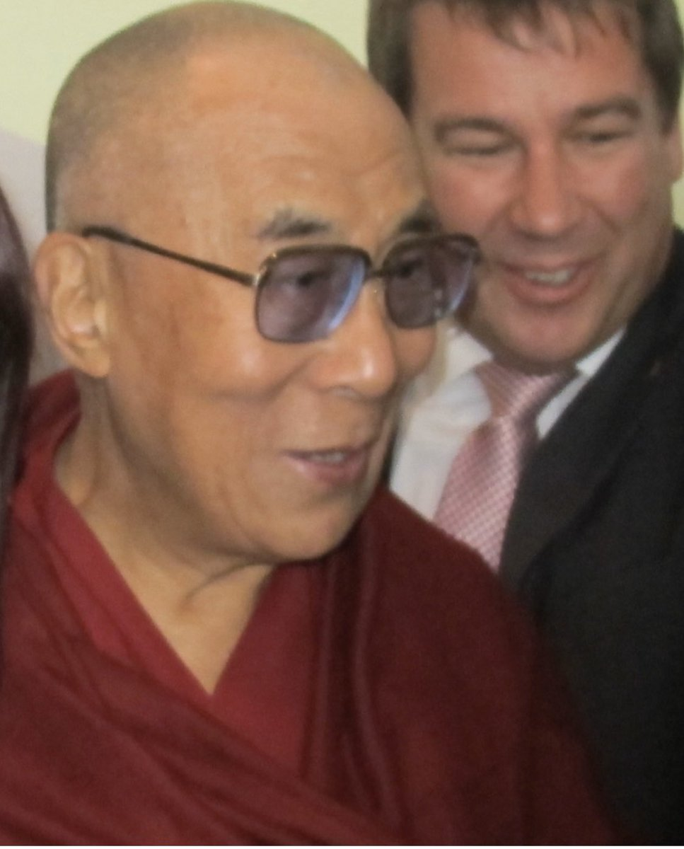 @TceMccann Despite appearances...I was not mugging or photobombing the Dalai Lama! 😂