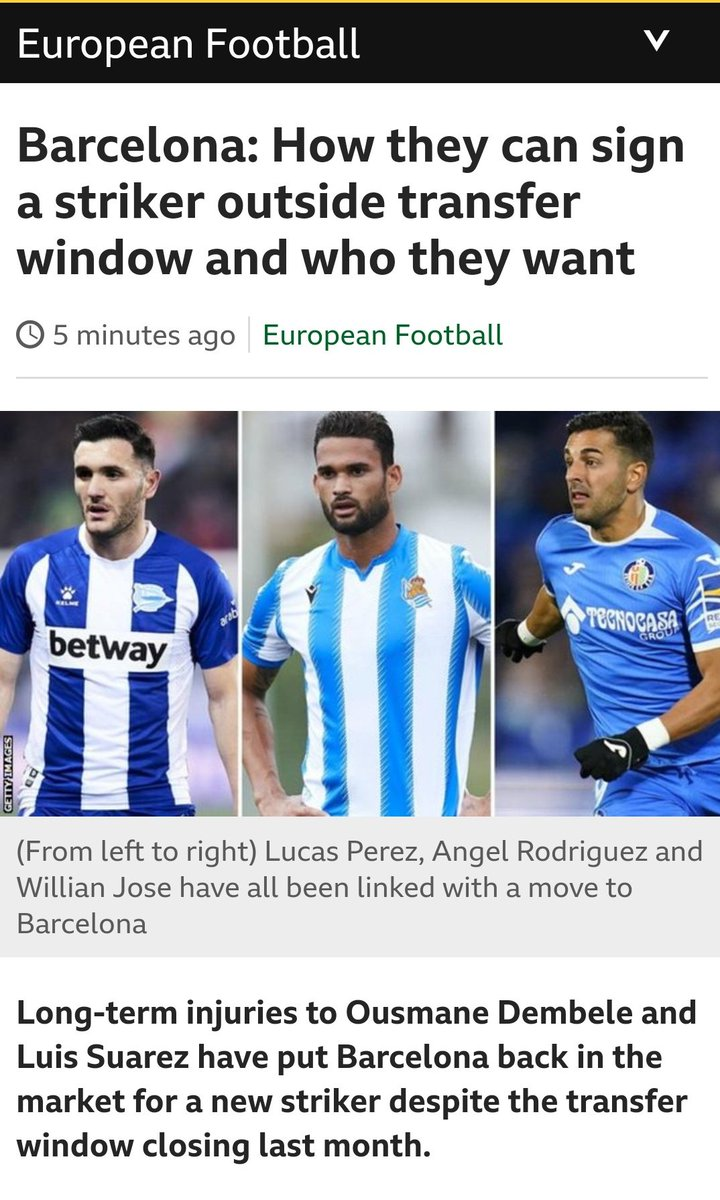 Barcelona: How they can sign a striker outside transfer window and who they want - @BBCSport bbc.com/sport/football…
