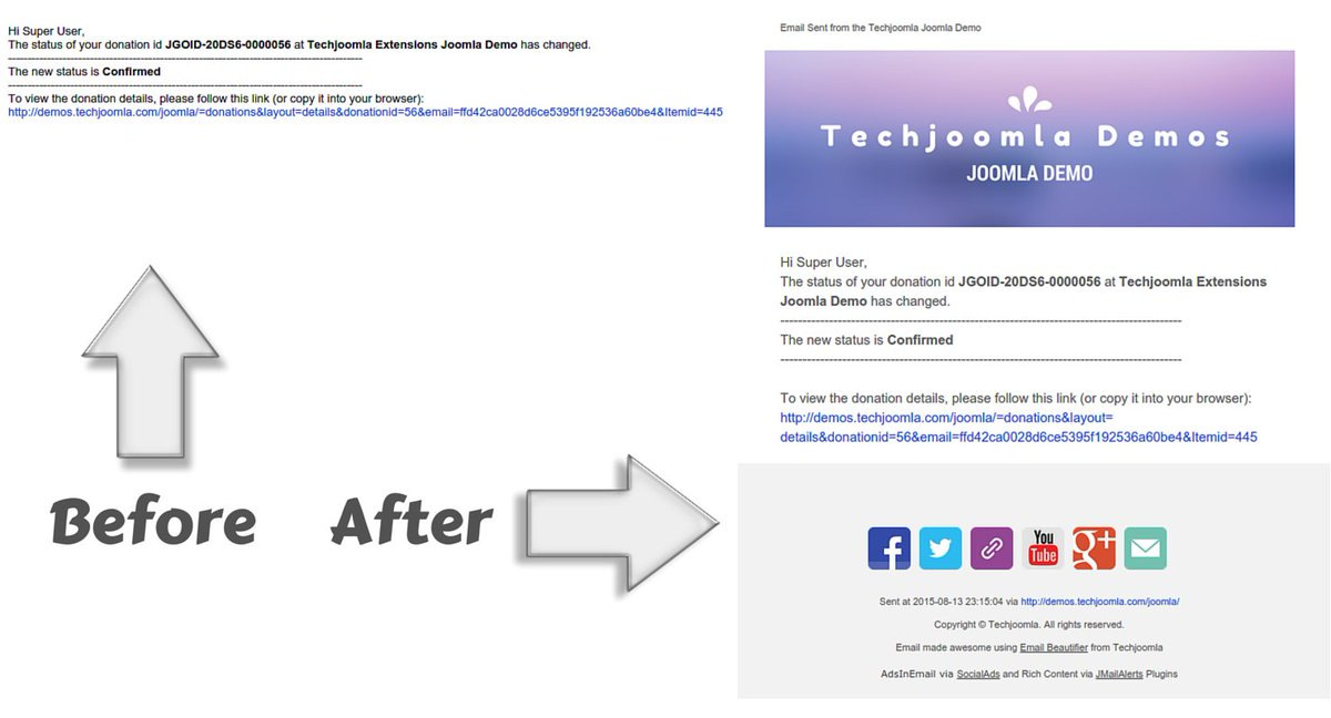 Give a fresh new look to your mundane #Joomla emails with Email Beautifier - https:// techjoomla.com/products/email -beautifier  …  #JoomlaExtension #Email #WebDev<br>http://pic.twitter.com/osXU1rDcFe