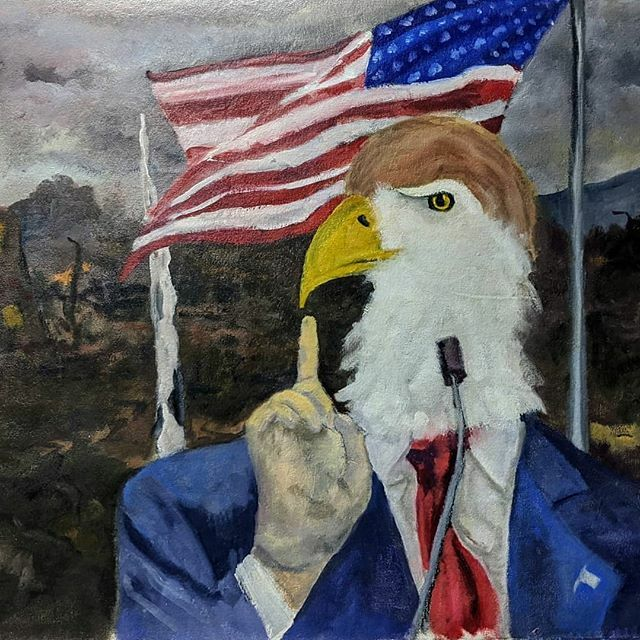 Oldie but a goodie. It's funny because it's true?  #art #painting #subversiveart #trump #utterdestruction #pussygrabberinchief #oilpaint #combover #delphianopencall @delphiangallery #howmanydoyouwant? https://ift.tt/2HkvwoCpic.twitter.com/AqpwtIv4V7
