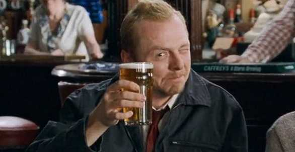 Cheers to SHAUN OF THE DEAD star Simon Pegg, who turns 50 years old today!  Happy birthday!