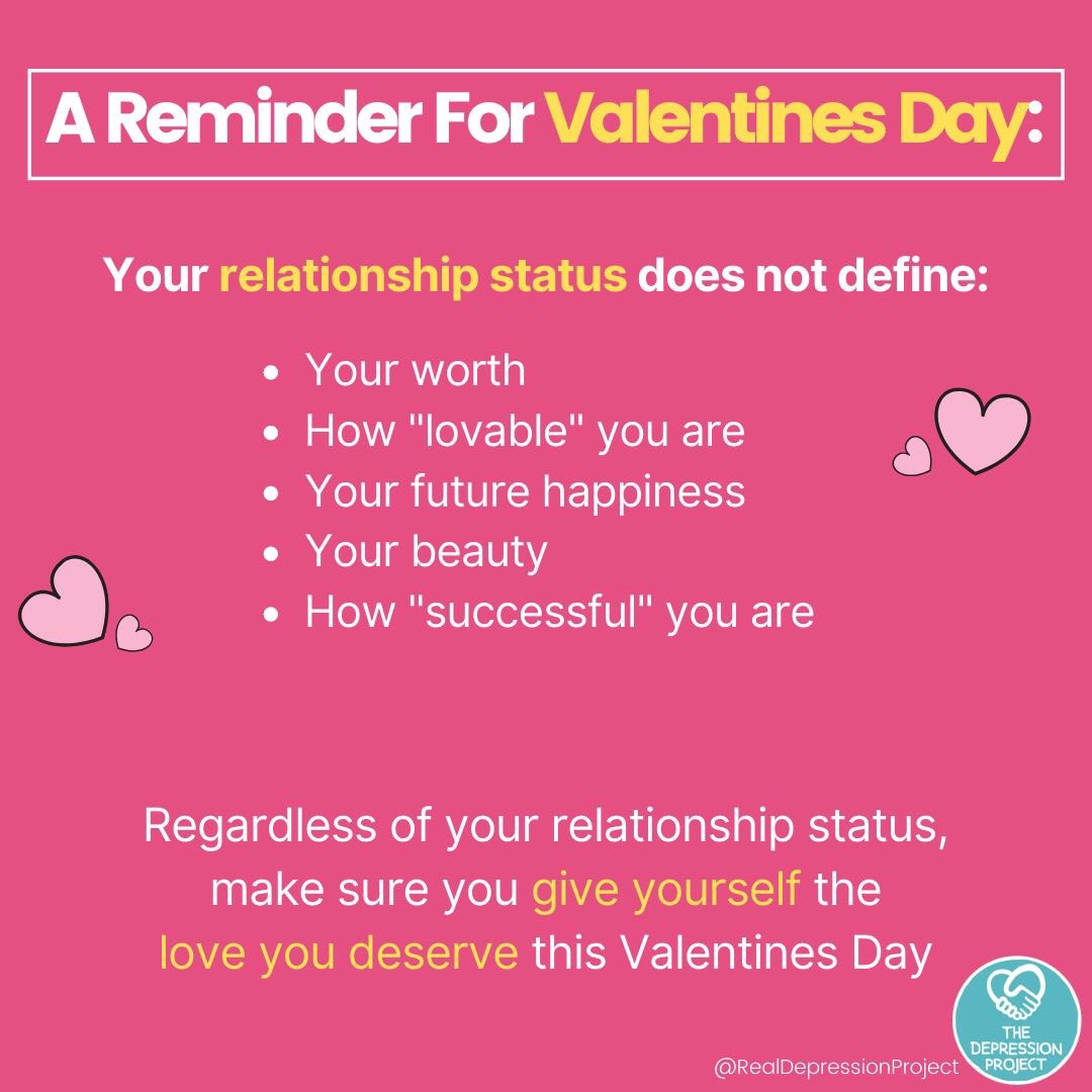 Even if you feel completely alone you are not, we are all with you and love you Take care of yourself xx #mentalhealth #SaintValentin #SinglesAwarenessDay<br>http://pic.twitter.com/SsLdGDCWOI