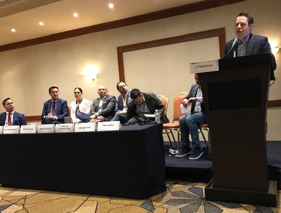 Earlier this week, #TeamRIAAs George York spoke on a panel in Mexico City at a Copyright Conference hosted by the U.S. Embassy & U.S. Patent & Trademark Office to share views on the creative community in Mexico, including implementation of the #USMCA trade pact.