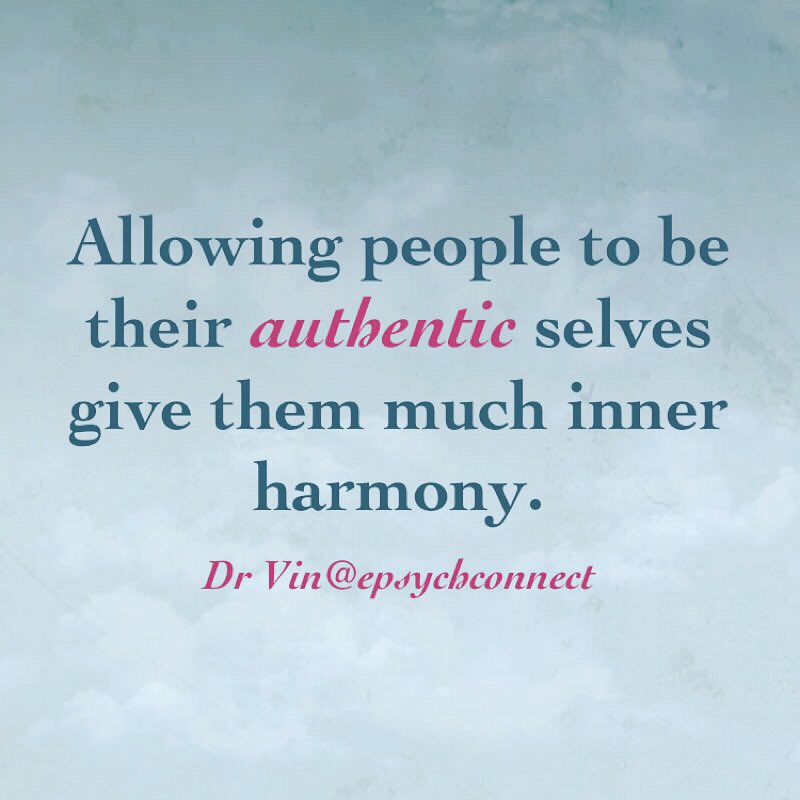 When one is able to be true to who they are, they have much inner harmony. When they are unable to be who they are and their #authentic selves, there is much inner disharmony. #emotionalliteracy #acceptanceandcommitmenttherapy   https://www.instagram.com/p/B8j6PVFgtC9/?igshid=1w1m3vrnw3zwy…