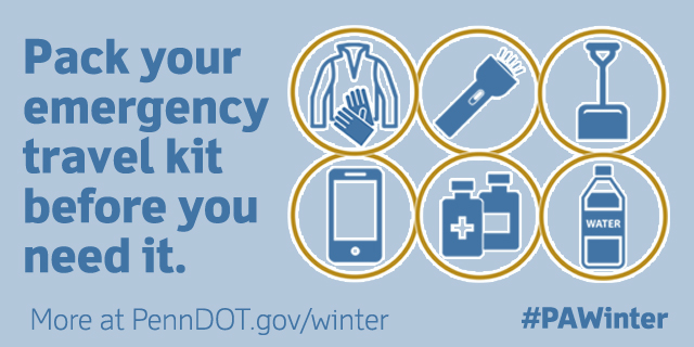 Winter isn't over yet! Before the next winter storm is forecast, make sure you're prepared. #PAWinter ❄️