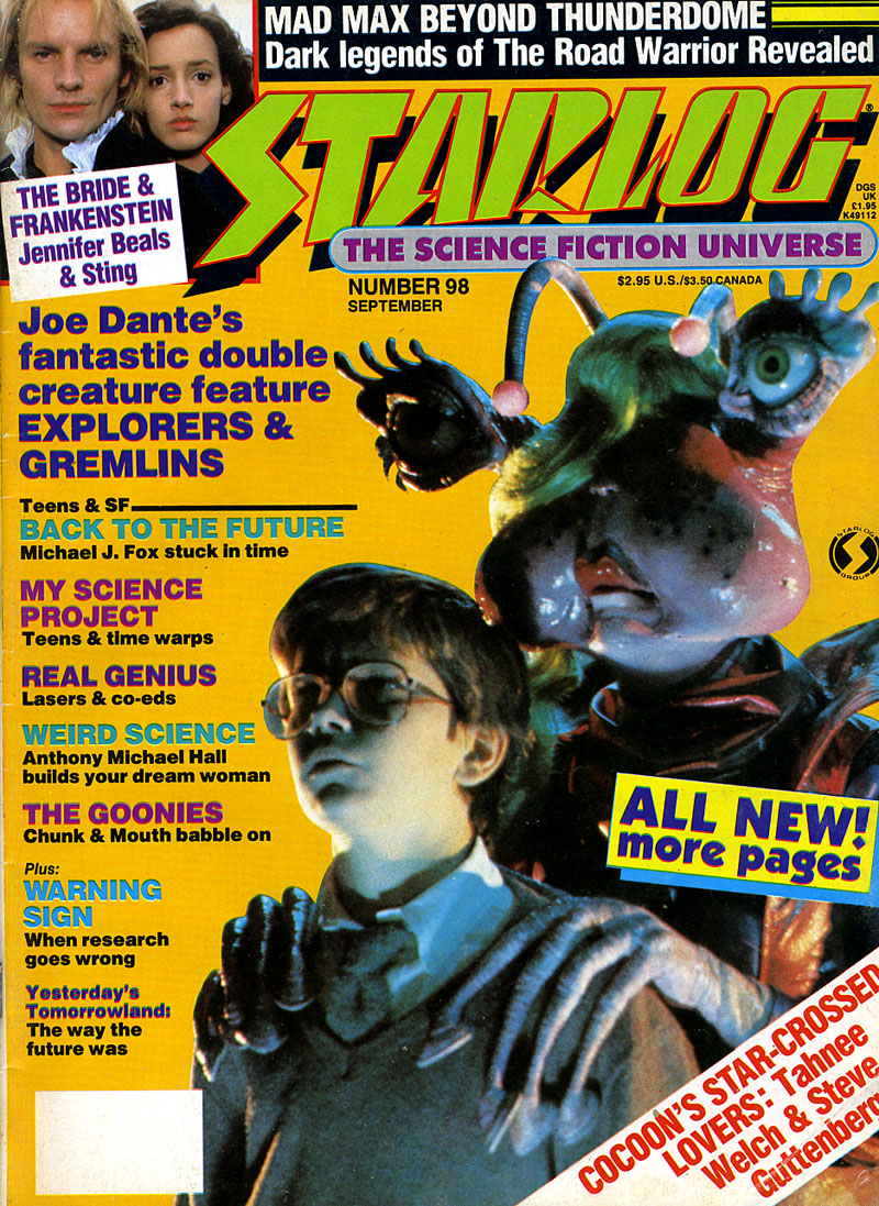 STARLOG magazine, issue 98 September 1985. #80s #SciFi #moviespic.twitter.com/tk4LsKYmjc