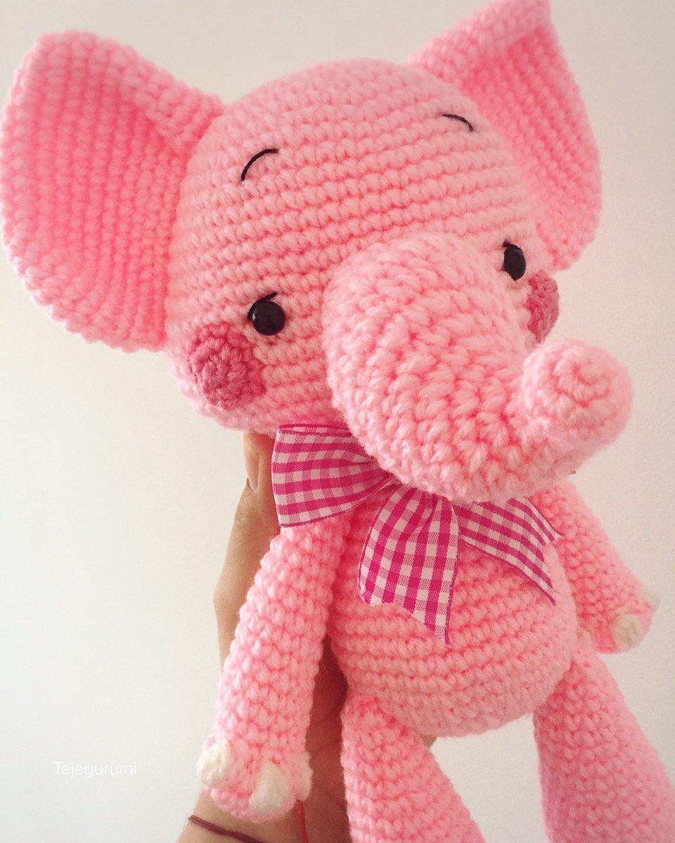 Elefante Rosa Amigurumi | Pelúcia Maria Espoleta Nunca Usado ... | 1200x960