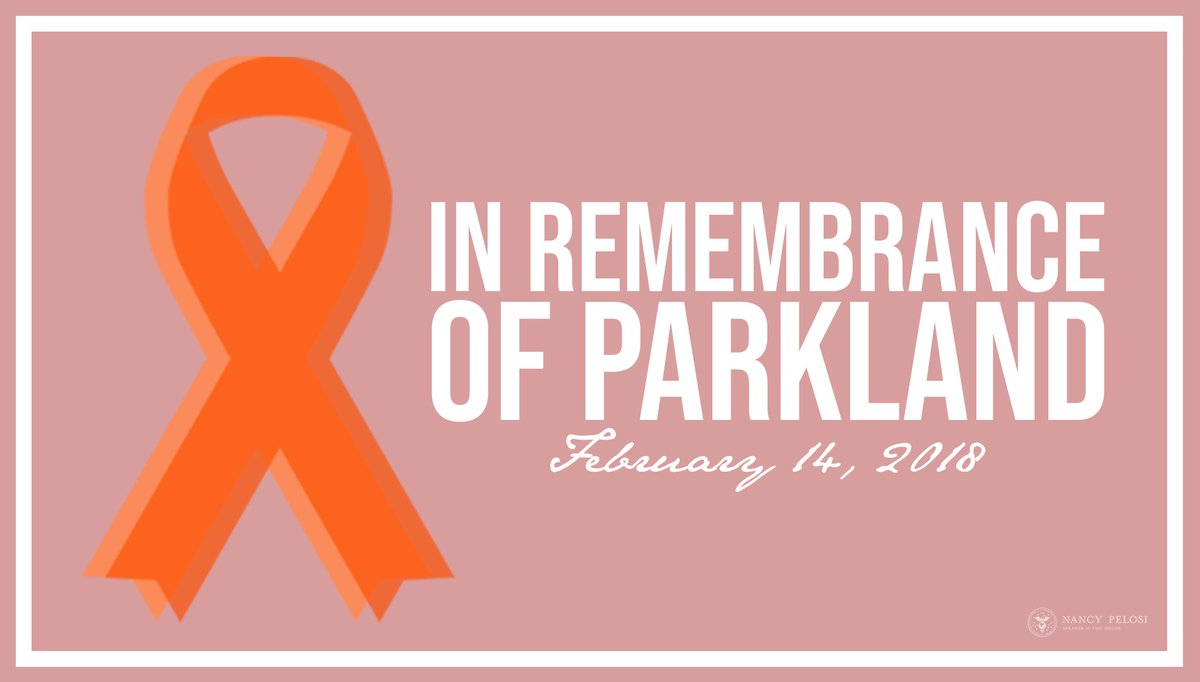 Two years after an act of terror and murder stole 17 lives and injured 17 others in Parkland, Florida, we continue to be inspired by the survivors & families who turned their grief into courageous action. #NeverAgain https://www.speaker.gov/newsroom/21420