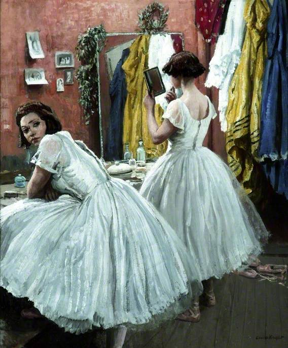A Dressing Room at Drury Lane, 1952 #knight #femaleartist