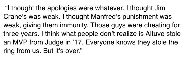 This was Cody Bellinger's opening comment ...