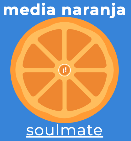 """RT SpanishDict """"This week's modismo, which literally means """"half orange,""""🍊 is one of our favorites. ¡Feliz Día del Amor y la Amistad! 💘 """""""