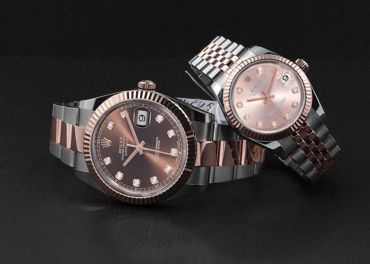 Nothing says Power Couple more than matching, top-notch watches on your wrists.  May we suggest a Rolex Datejust 41 for him, and a Rolex Datejust 36 for her?  https://swisswatchexpo.click/datejust-everose…  #Rolex #RolexDatejust pic.twitter.com/gRUCJ7pJyN