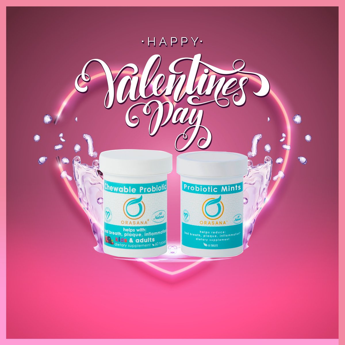 Free Shipping on all @Orasana products, today only! #HappyValentinesDay