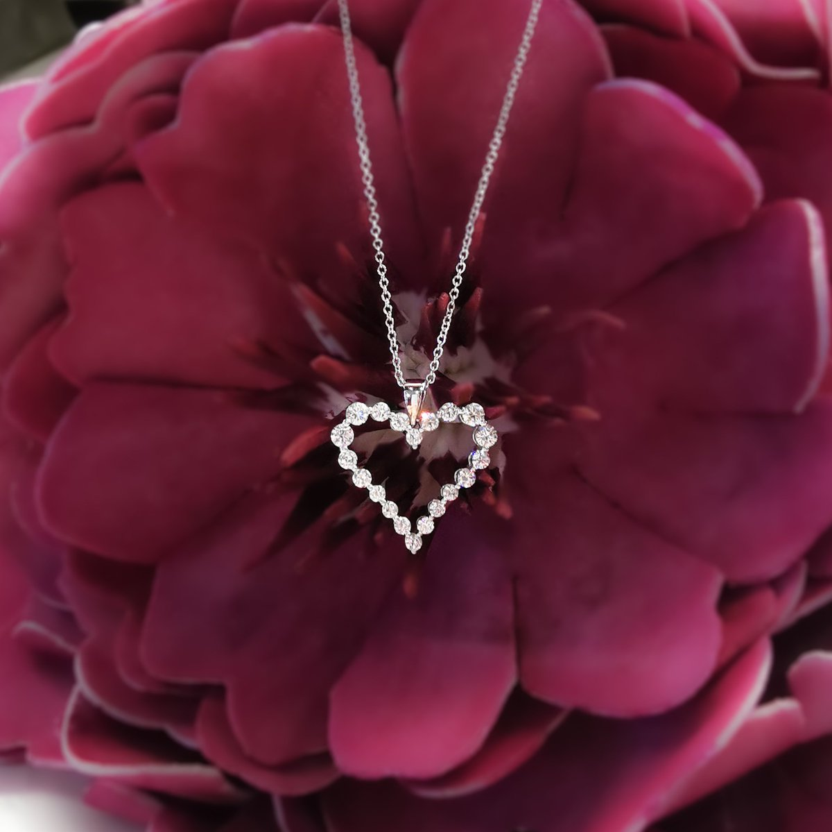 """Happy Valentine's Day! We love being part of those special moments where you say """"I Love You"""" with diamonds! There is still time to bring home a little something to your special #valentine in #happyvalentinesday❤️  #diamonds #ValentinesDay #heartpendant #diamondnecklace"""