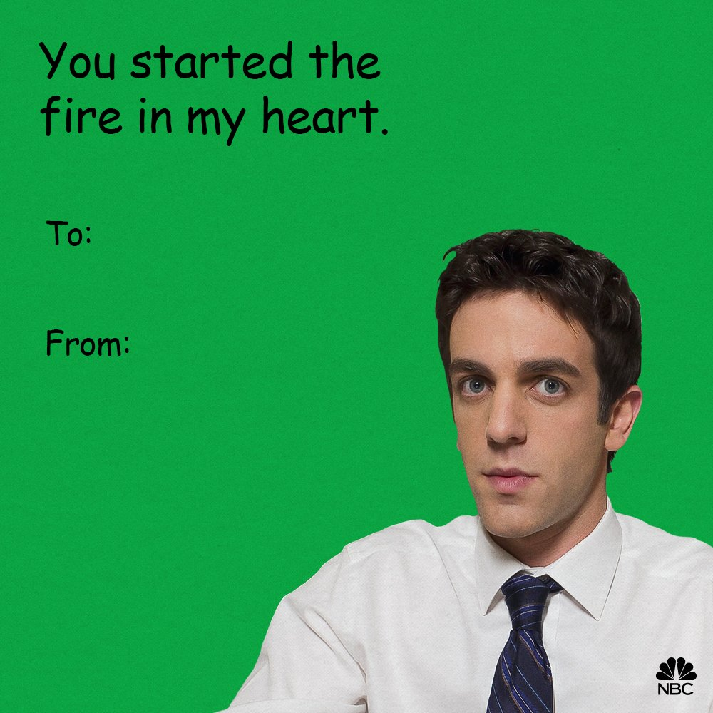 Our love was always burning since the world's been turning. 🎶🔥 Happy Valentine's Day, Dunder Mifflin!