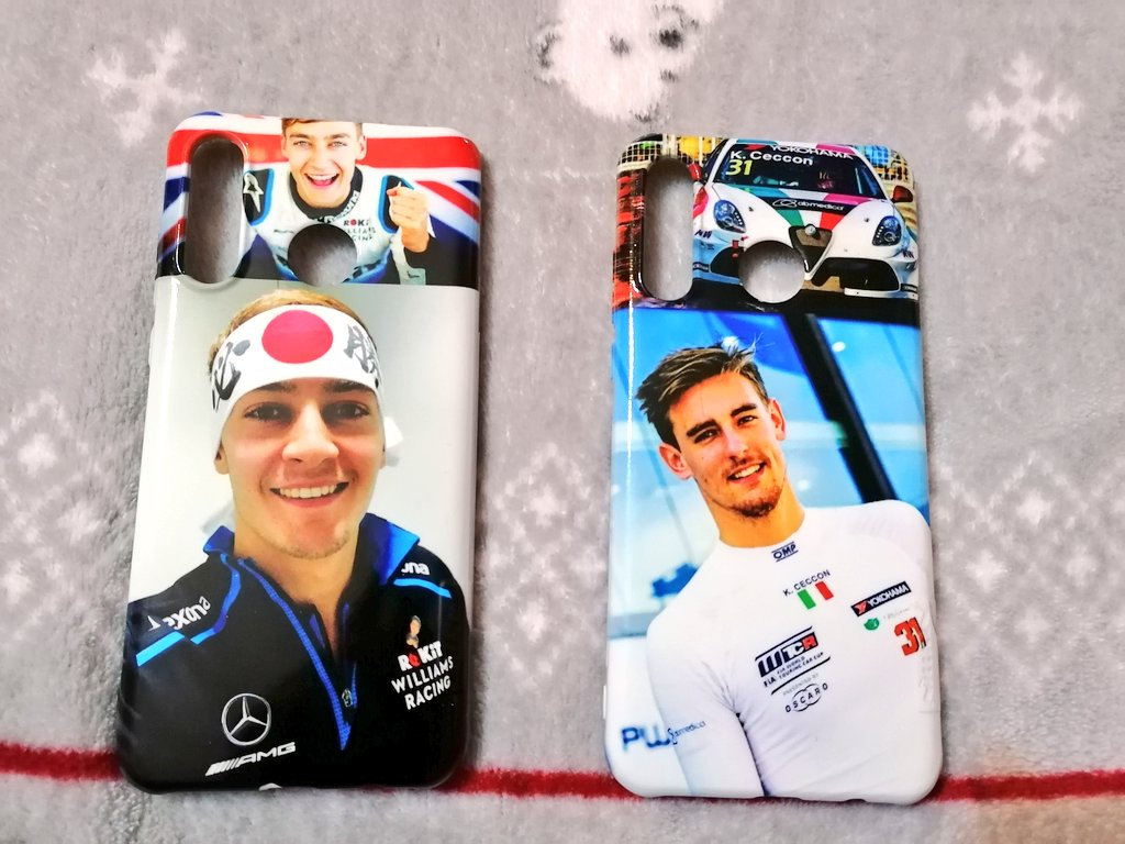From me to me with love. New phone cases 😍😍❤️❤️ #phonecase #GeorgeRussell #KevinCeccon #F1 #FiaWTCR #Drivers #Lovethem #RokitWilliamsRacing