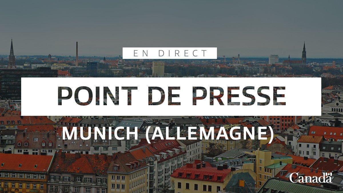 En direct: le premier ministre Justin Trudeau s'adresse aux médias à Munich. ow.ly/HgmQ50ymIoi
