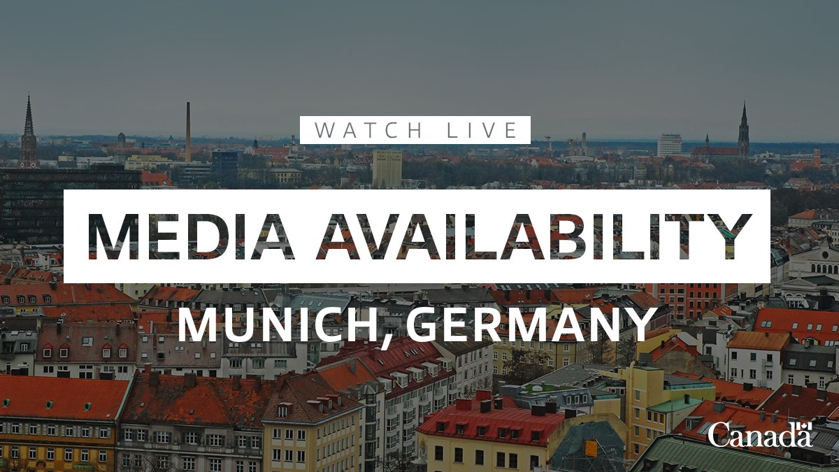 Watch live: Prime Minister Justin Trudeau speaks with media in Munich. ow.ly/ridB50ymImc