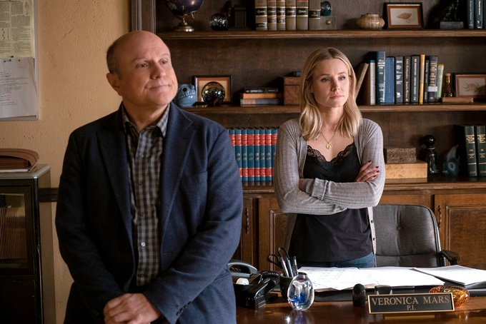 "Happy birthday to Enrico Colantoni here with in ""Veronica Mars\""."