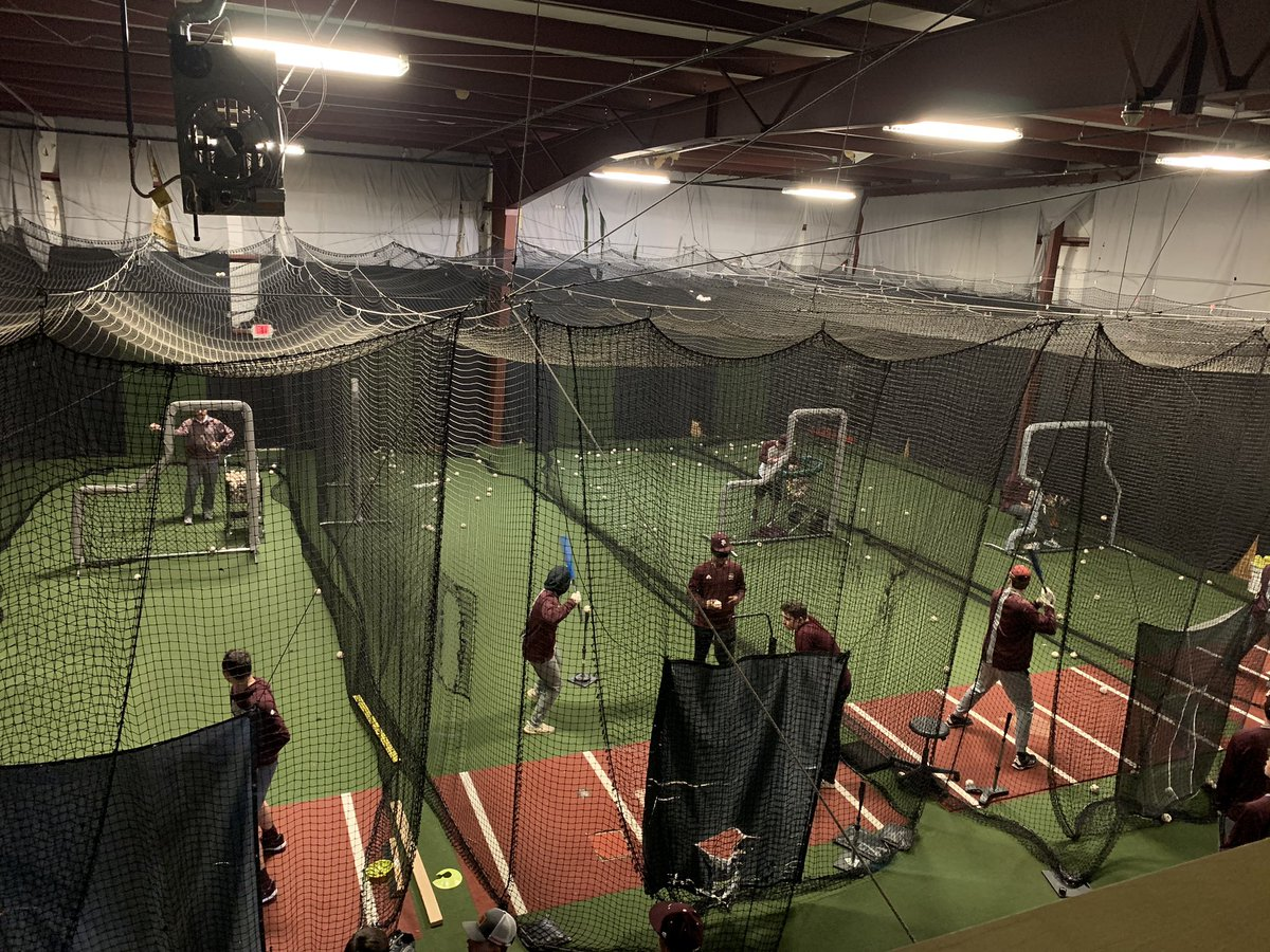 BC baseball getting in some cuts on way to Lake Point for some weekend baseball!