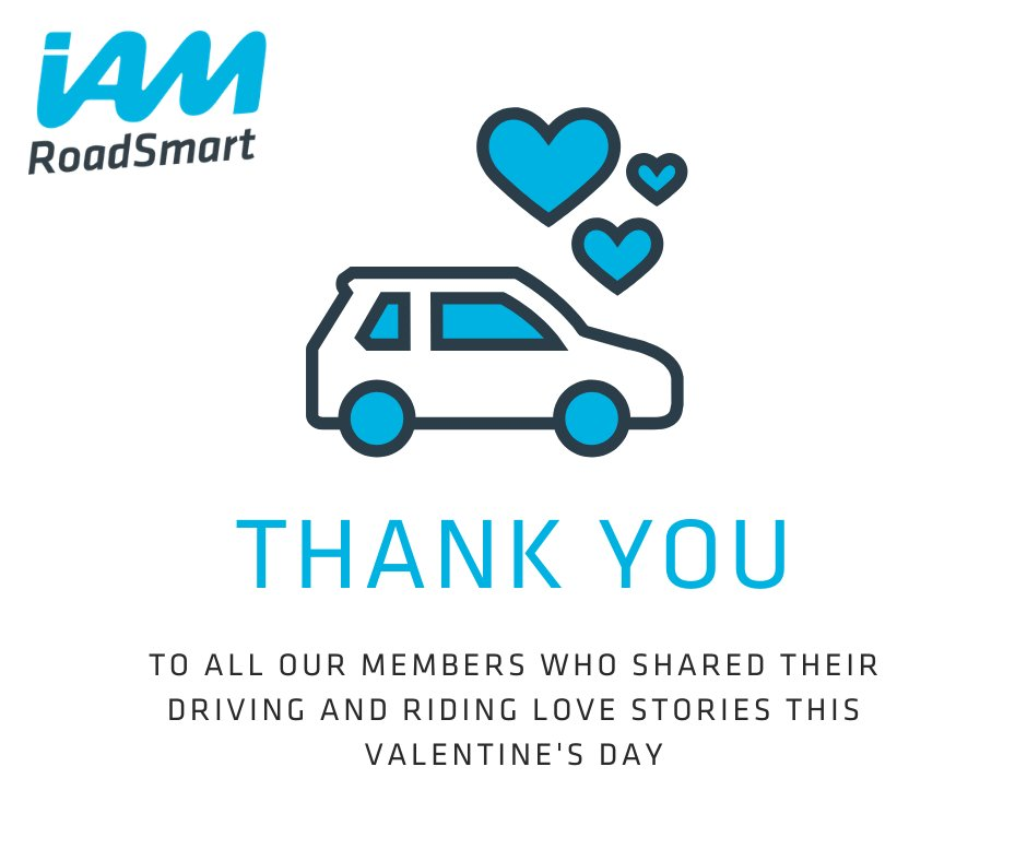 Thank you to everyone who has shared their driving and riding love stories for #ValentinesDay. We've loved reading your most memorable road trips! #ShareTheLove #LoveYourJourney #BetterTogether  https://www.iamroadsmart.com/media-and-policy/newsroom/news-details/2020/02/07/things-are-better-when-done-together-start-your-iam-roadsmart-journey-this-valentine-s-day …pic.twitter.com/zrPEdov8Cf