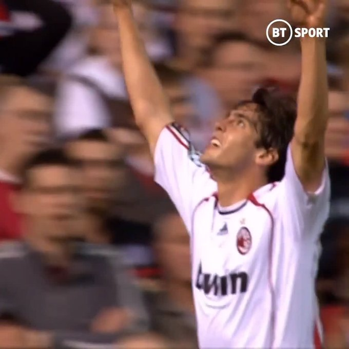 The night Kaká ran riot at Old Trafford!  Happy birthday to one of the greatest footballers of his generation