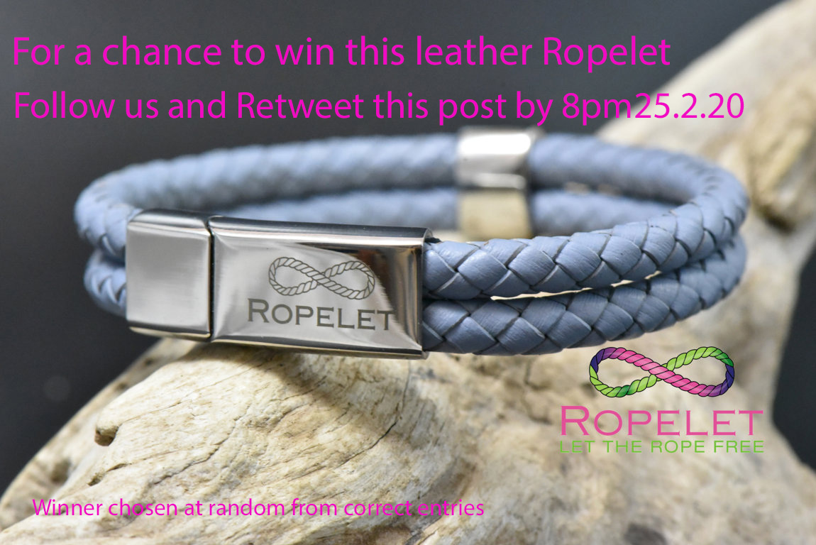 For a chance to #win this stunning double leather Ropelet from http://ropelet.co.uk,in our #Competition , Follow us and Retweet this post by 8pm 25.2.20 #bracelet #jewelry