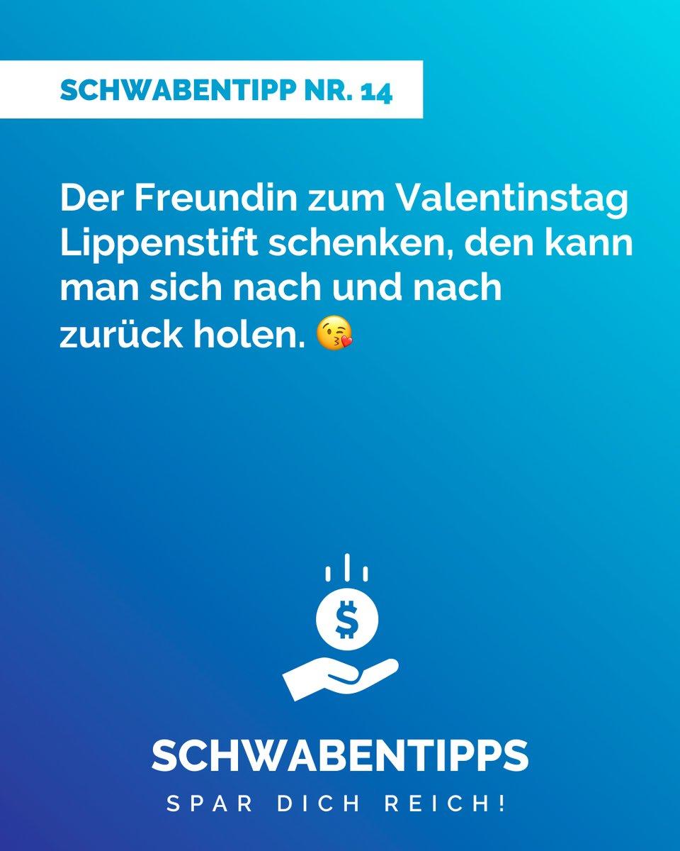 #Valentinstag Markiere deine(n) Liebste(n) #schwabentipps #schwabentipp #spardichreich #sparen  #jodeldeutschland  #geizkragen #sparfuchs #spartipps #spartipp #witzig #bestofjodel #sprüche #spruch #humor #rabatt #schnäppchen #sparsam #schwabe #gutschein #reduziert #angebotpic.twitter.com/sp38Gbd3iG