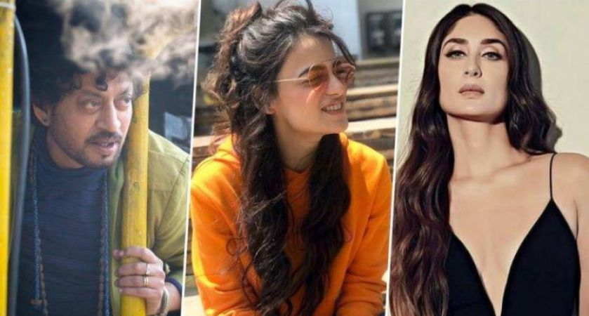 """Hearty Congrats to my Most Favorite, Most Beautiful, Lady Super Star #KareenaKapoorKhan (Bebo Beauty Queen) - U R *SHINING* - Ur 1st Movie of The Year 2020 *""""AngrejiMedium""""+ Pairing With Great Actor #IrfanKhan Set to Release On 20th March 2020 - Dir: Homi Adajania.....pic.twitter.com/GyMloZiQ8y"""