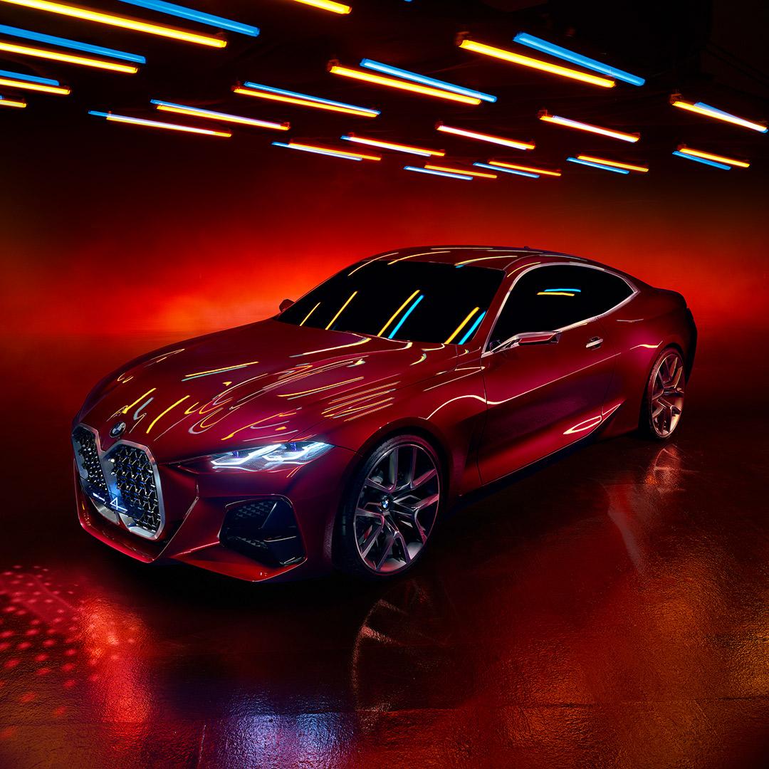 Walentynkowe, bo zmysłowe i czerwone (lakier Forbidden Red). BMW Concept 4.  #Valentines #ValentinesDay #Walentynki #BMW #Concept4