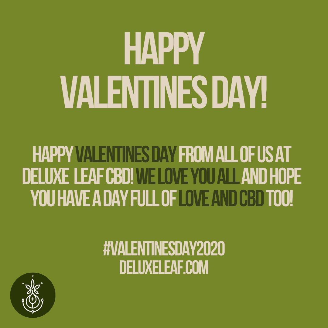 Happy Valentines Day from all of us at Deluxe Leaf! We wish you a day full of love, happiness, and CBD! #valentinesday2020  #cbdinfused #cbdwellness #cbdlove #cbdhemp #cbdflowers #cbdcommunity #cbdisolate #cbdmovement #cbdhealth #cbdlife #cbdoil #cbdpic.twitter.com/iBHJxdhJOx