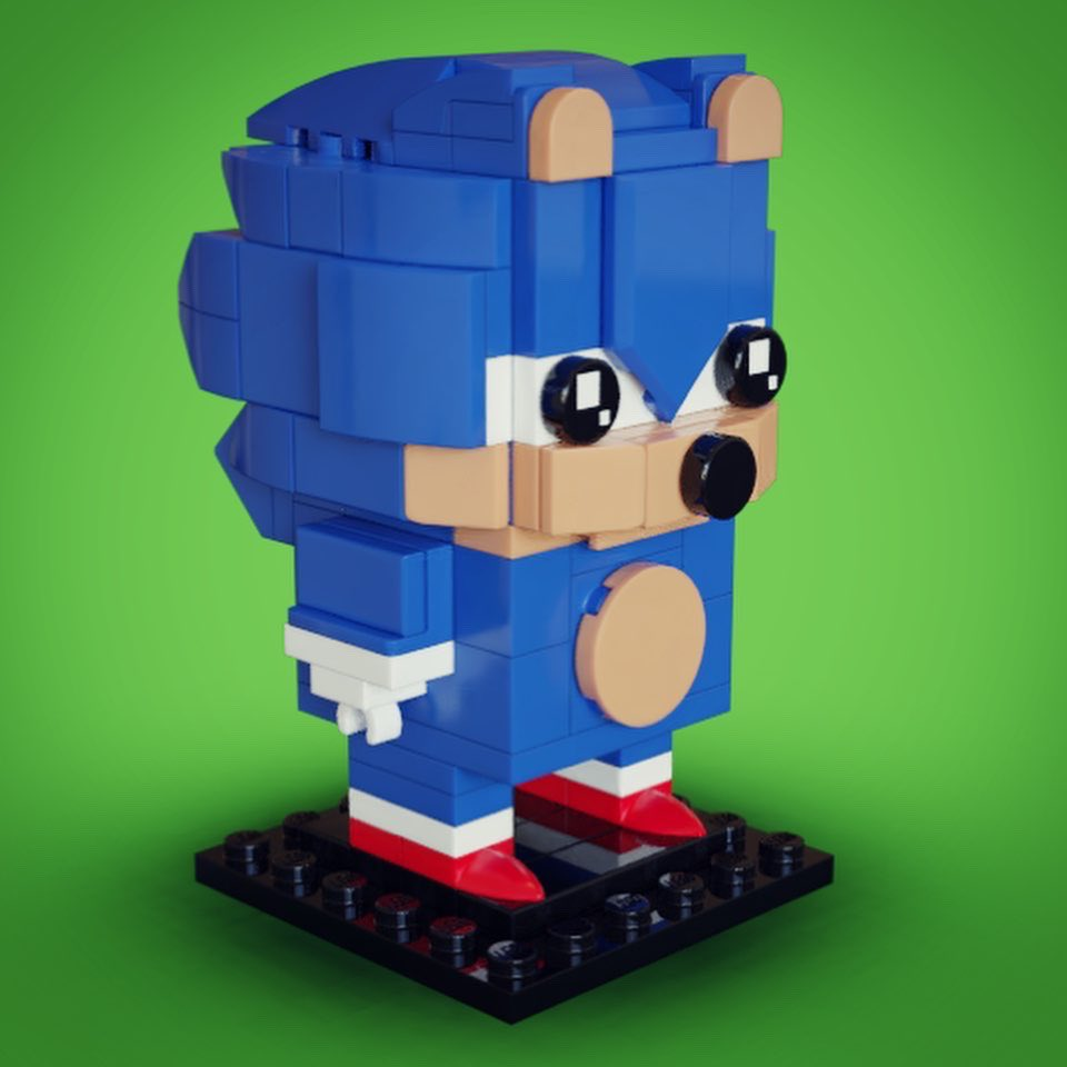 Matt Brailsford Blacklivesmatter On Twitter Custom Brickheadz Sonic The Hedgehog In Honour Of The Sonicmovie Release I Thought I D Have A Go At Converting This Iconic Character Into Brickheadz Form And I M
