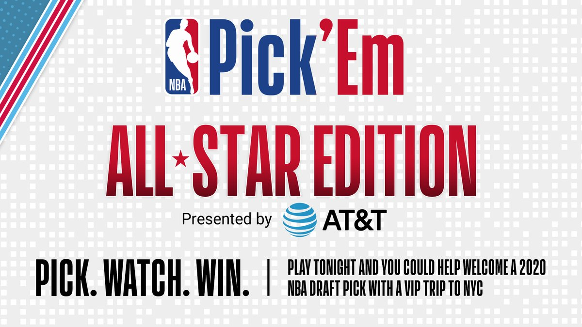 You Could Win a VIP Trip to NYC and Help Welcome a 2020 Draft Pick! Play #NBAPickEm All-Star Edition Presented by @ATT tonight during #NBARisingStars on TNT and you could win!