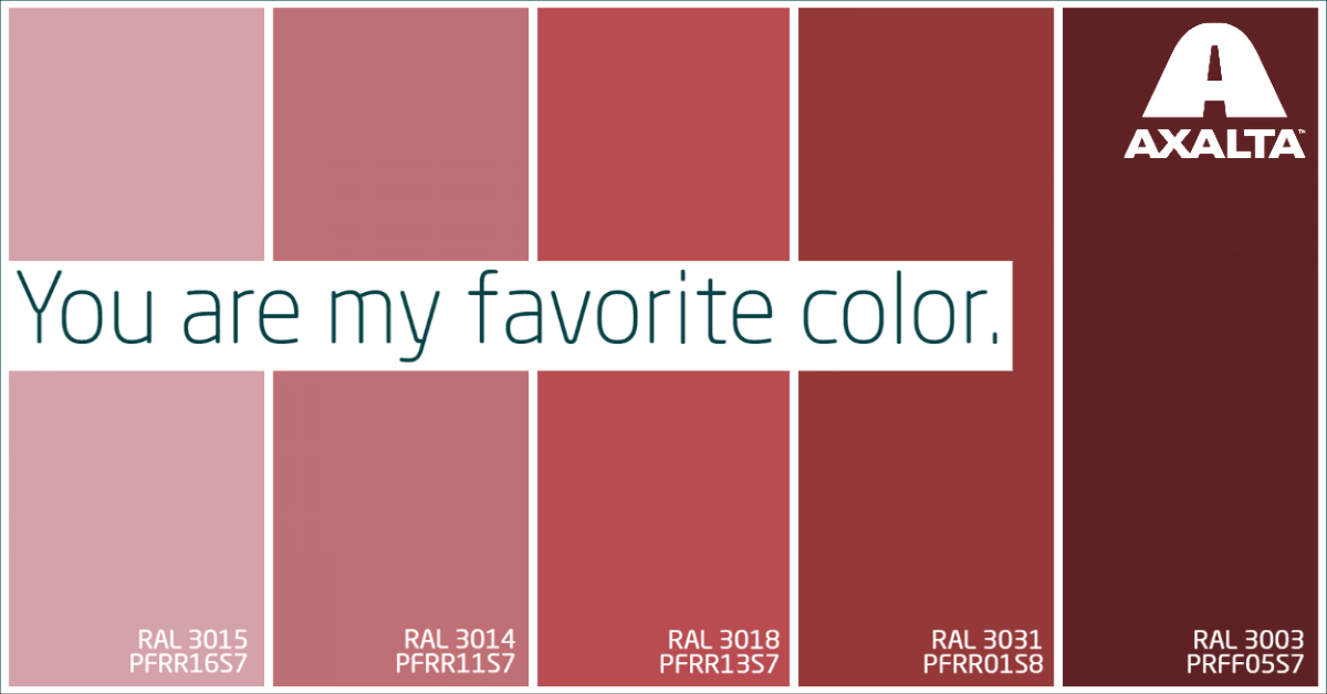 We Love Color. We Live Coatings. Happy Valentine's Day!  What's your favorite color? #axalta #happyvalentinesday #powdercoatings https://t.co/gu0gLusU1I