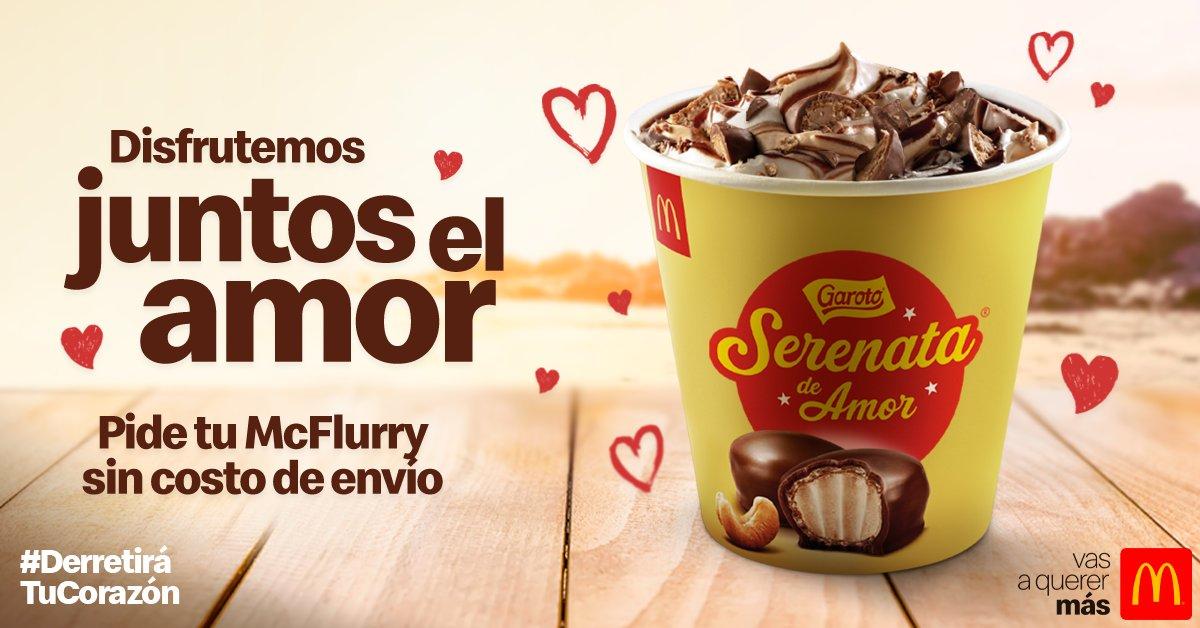 Endulza este día de los enamorados 💕 Pide tu McFlurry Serenata de amor sin costo de envío por tu App de pedidos favorita 👉 @UberEats_Chile y @RappiChile ¡Solo por hoy! https://t.co/MZjUbM3Ejj
